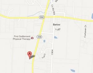 Map to Lighthouse Baptist Church
